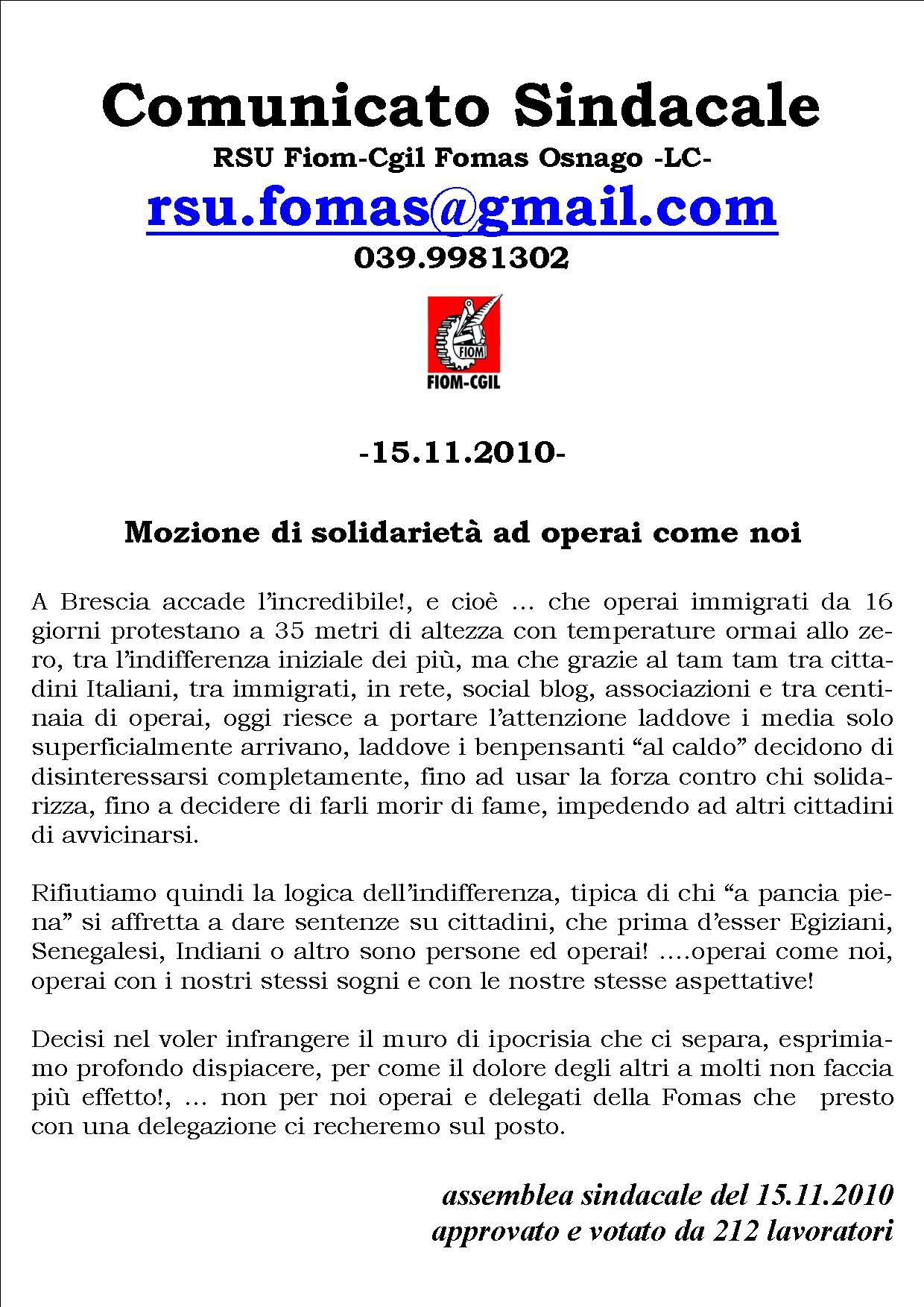 novembre | 2010 | Giovani Comunisti Lecco | Pagina 2